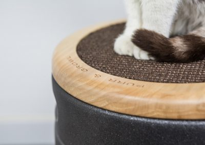 Party Cat black glitter with sisal scratching post