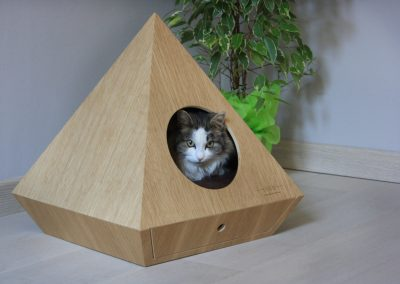 Mia House cat cave inspired by gemstones